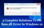 5 Kompletnych rozwiązań, aby naprawić błąd Bass.dll w systemie Windows 10