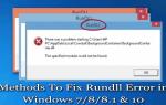 7 skutecznych metod naprawy błędu Rundll w Windows 7/8 / 8.1 i 10