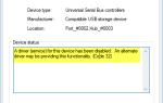 Sterownik (usługa) dla tego urządzenia został wyłączony (kod 32)