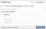 Jak ukryć pytania na Facebooku na Facebooku.com