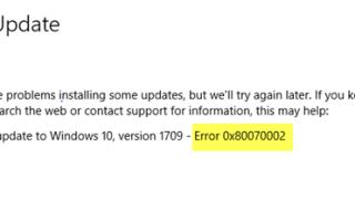 Napraw kod błędu aktualizacji Windows 10 0x80d02002
