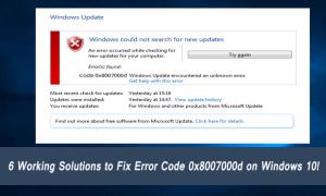 6 działających rozwiązań naprawiających błąd 0x8007000d w systemie Windows 10!