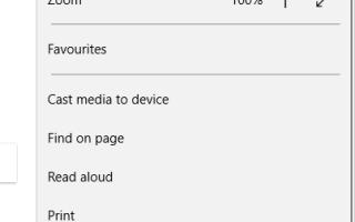 Jak wyświetlić pasek narzędzi Microsoft Edge Ulubione