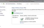 Historia plików nie działa w systemie Windows 10 / 8.1 / 8 [Poprawka]
