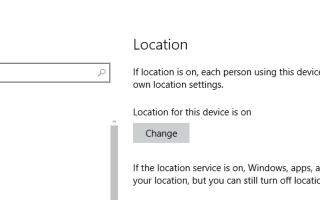 Użyj lokalizacji na komputerze bez włączania usługi lokalizacji systemu Windows 10s
