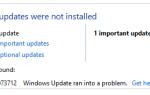 Szybka poprawka: Błąd aktualizacji systemu Windows 10 / 8.1 / 8 80073712