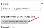 Jak importować ulubione z innej przeglądarki do Edge