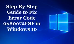 Przewodnik krok po kroku, aby naprawić kod błędu 0x80072F8F w systemie Windows 10