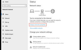 Windows 10: Zmień typ sieci