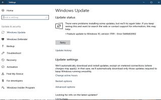 Top 5 poprawek dla błędu aktualizacji Windows 0x80d02002 w wersji Windows 10 1803