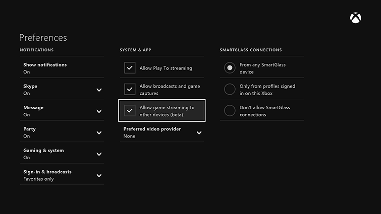 allow-streaming-xbox-one