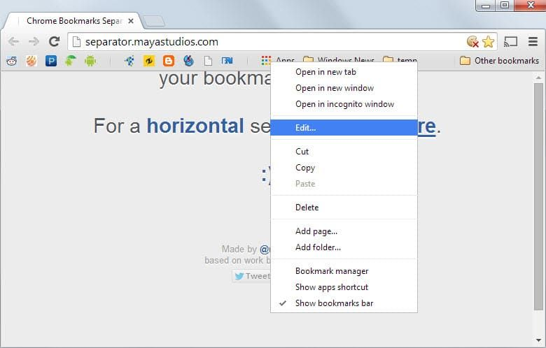 Jak zrobić Chrome's bookmarks toolbar better