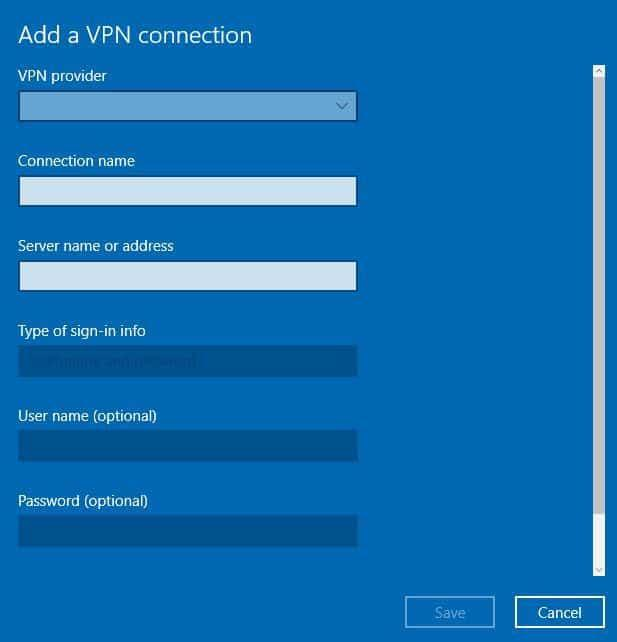 VPN VPN dostawcy VPN na laptopa Windows 10