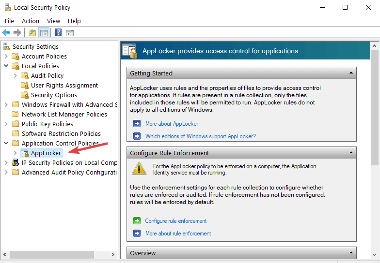 Windows applocker 10
