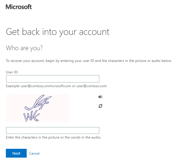 BI's account reset pagePower BI Desktop won't sign in