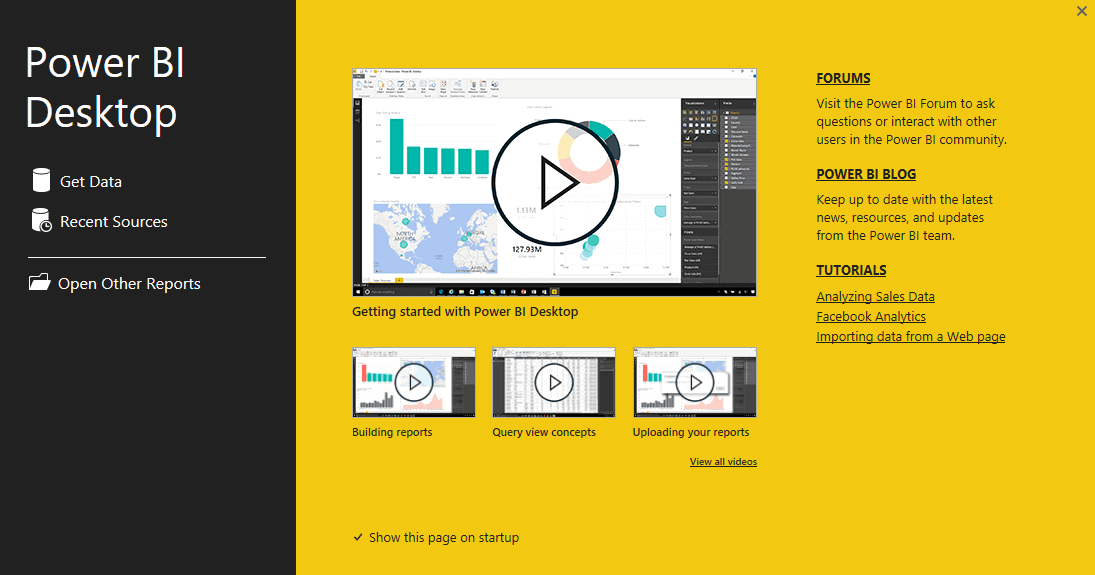 Power BI Desktop Wygrał Power BI Desktop't sign in